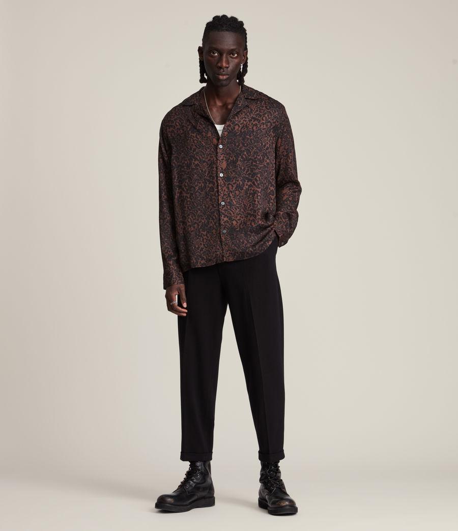 Herren Halftone Shirt (woodland_brown) - Image 3