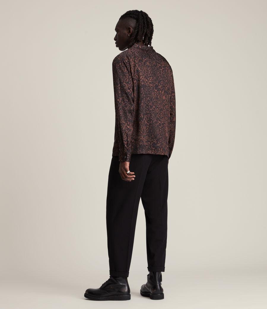 Herren Halftone Shirt (woodland_brown) - Image 4