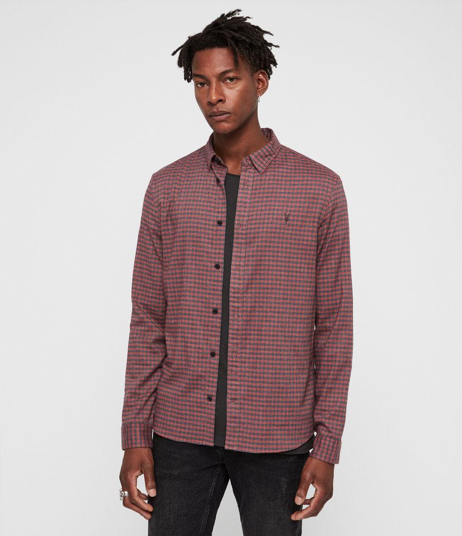 Uomo Barrens Shirt (red__charcoalgrey) - Image 1