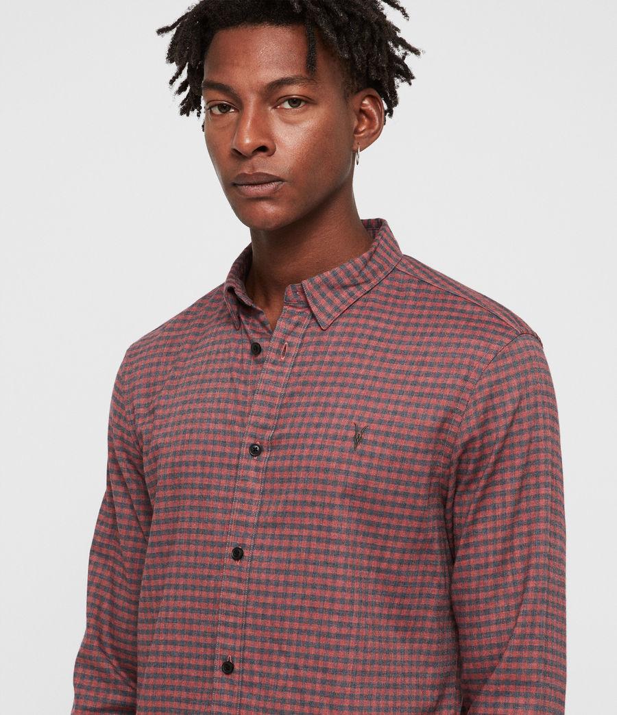 Uomo Barrens Shirt (red__charcoalgrey) - Image 2