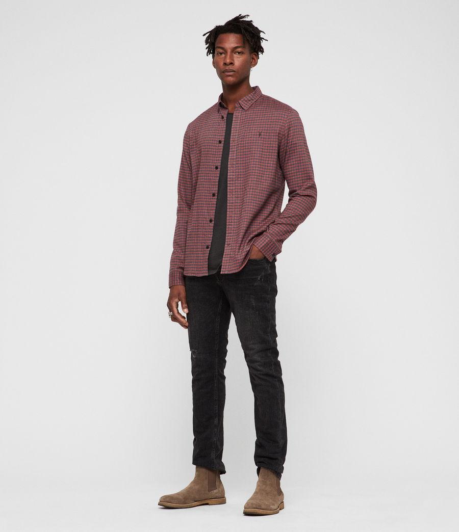 Uomo Barrens Shirt (red__charcoalgrey) - Image 3