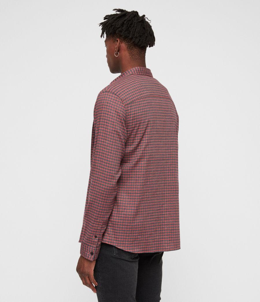 Uomo Barrens Shirt (red__charcoalgrey) - Image 4