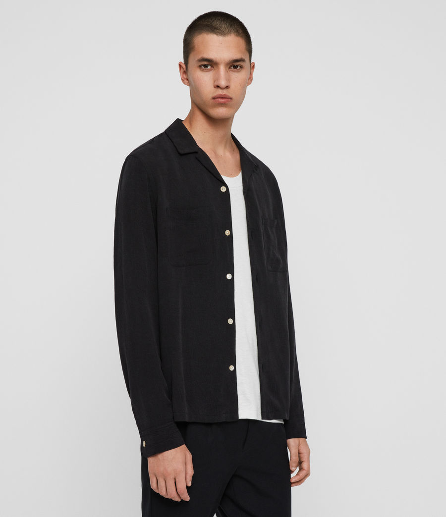Men's Palermo Shirt (jet_black) - Image 4