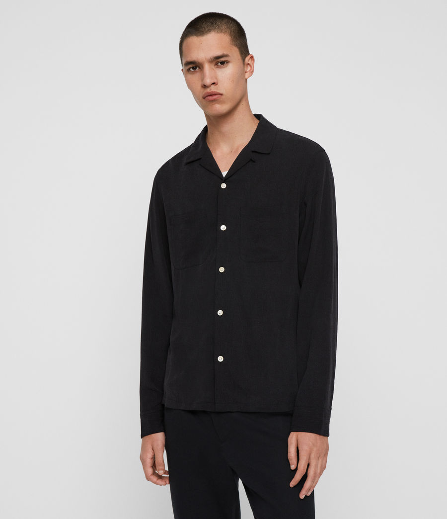 Men's Palermo Shirt (jet_black) - Image 5