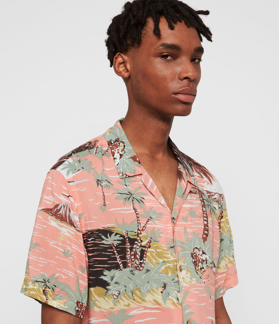 Men's Luau Hawaiian Shirt (pink) - Image 2