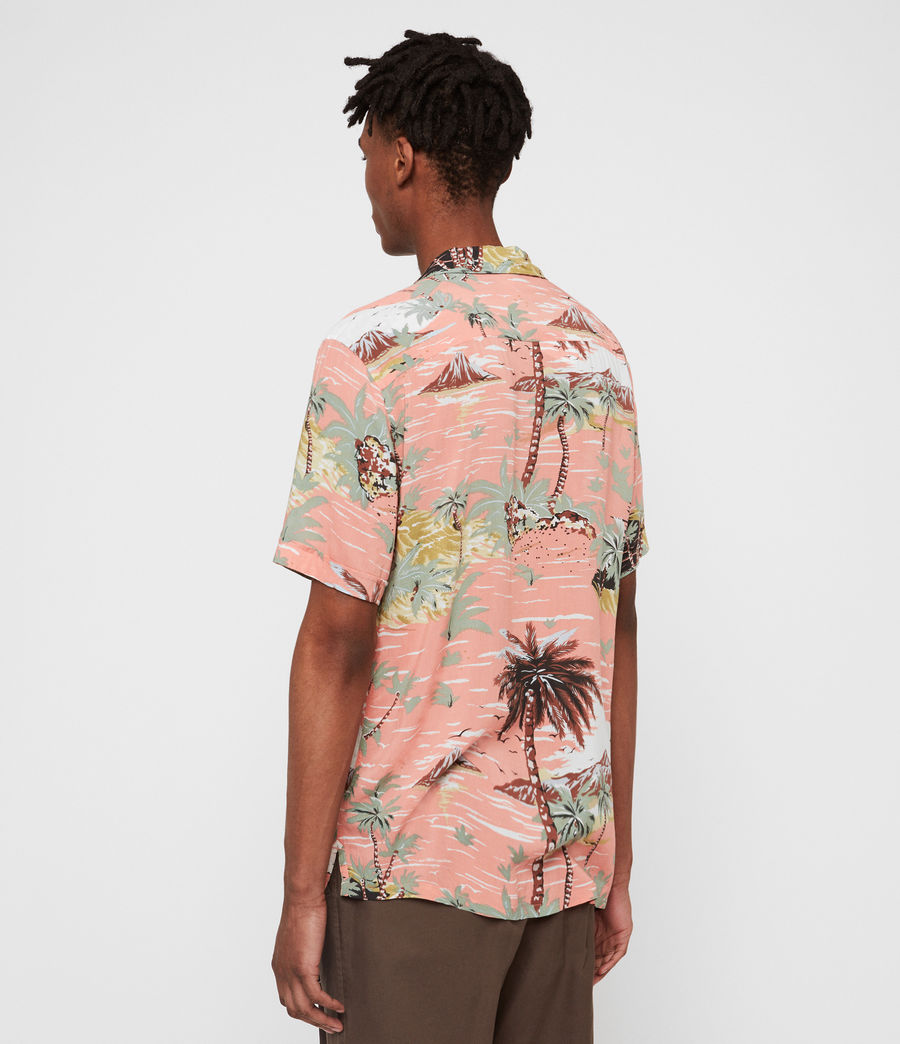Men's Luau Hawaiian Shirt (pink) - Image 4
