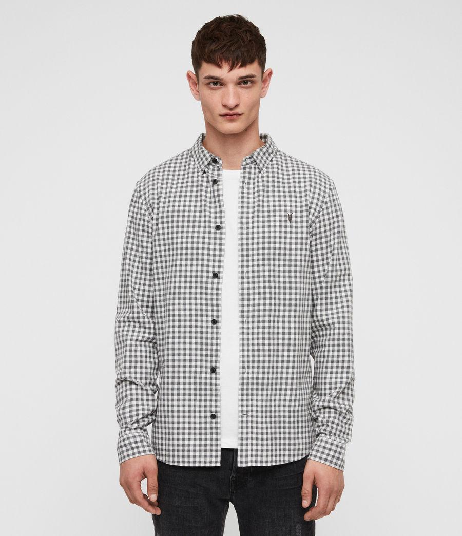 Hombres Camisa Stowe (ecru__charcoalgrey) - Image 1