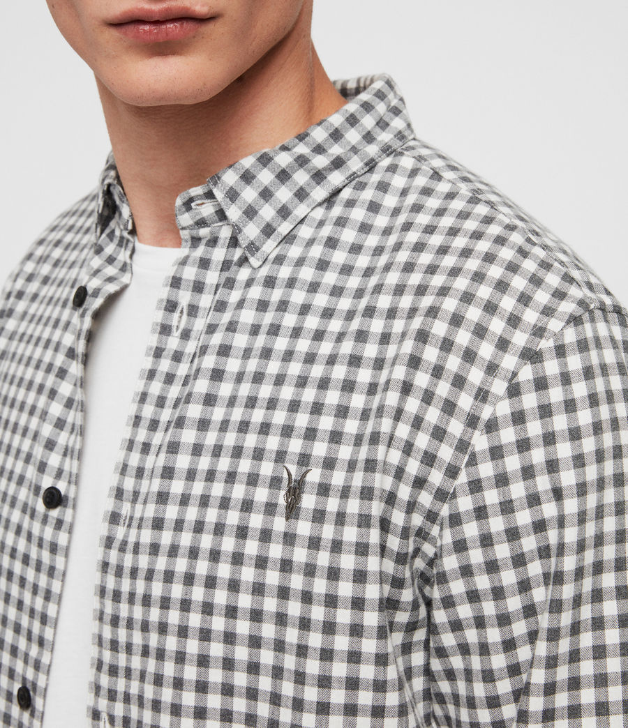 Hombres Camisa Stowe (ecru__charcoalgrey) - Image 2