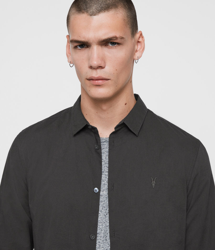 Mens Hains Shirt (coal_grey) - Image 2