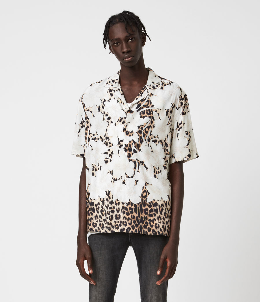 Mens Leopon Shirt (ecru) - Image 2