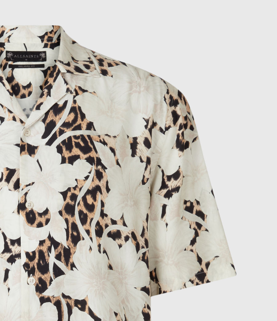Mens Leopon Shirt (ecru) - Image 1