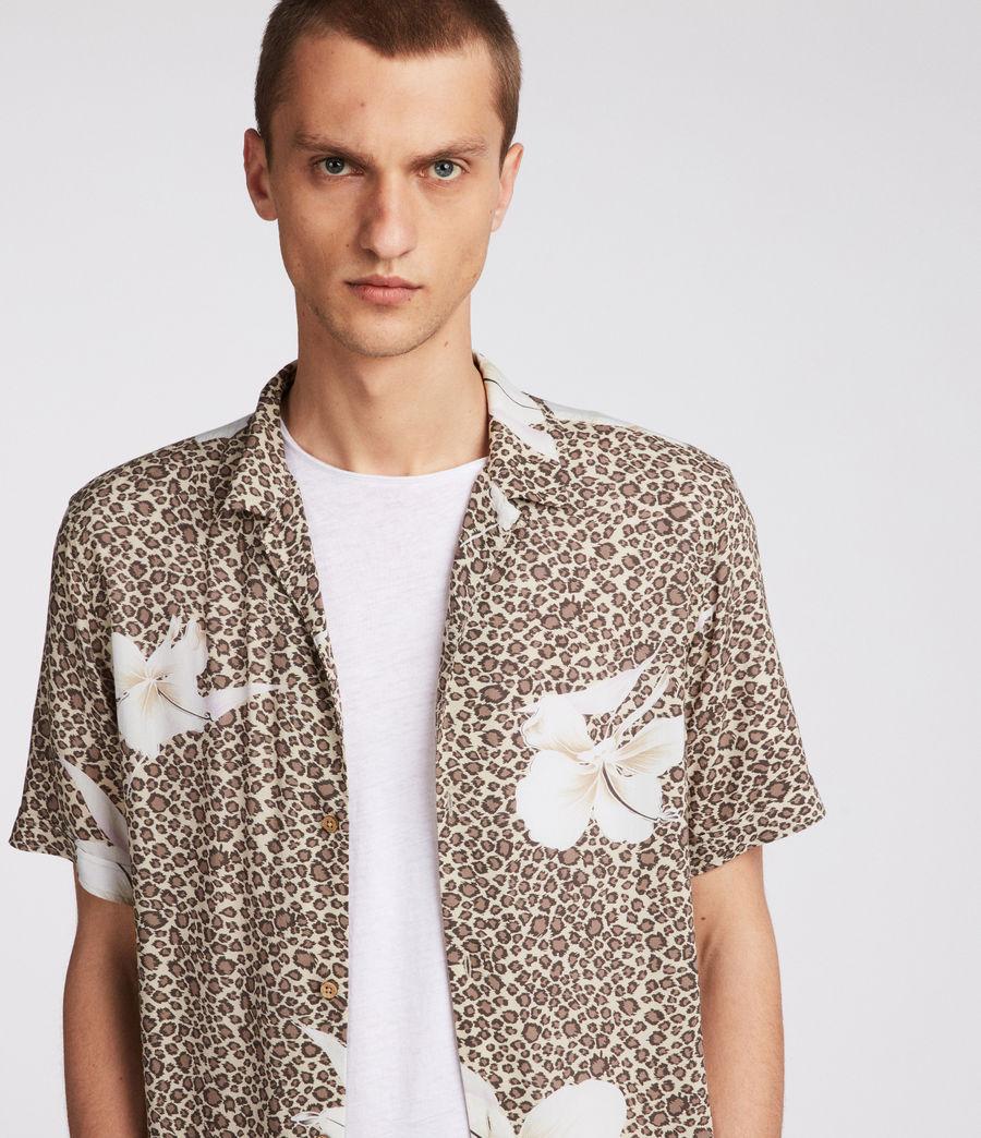 Men's Kuhi Hawaiian Shirt (sand) - Image 2