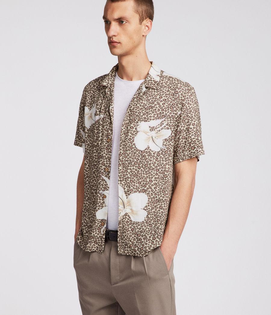 Men's Kuhi Hawaiian Shirt (sand) - Image 3