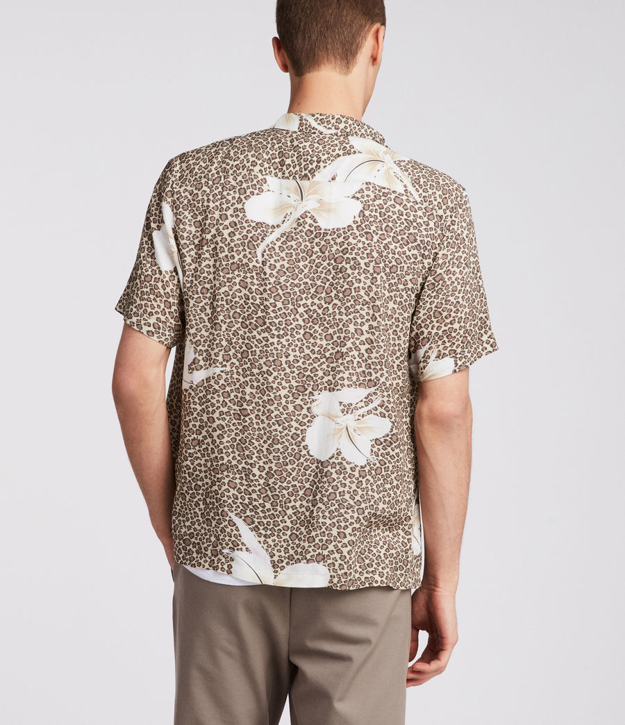 Mens Kuhi Hawaiian Shirt (sand) - Image 4