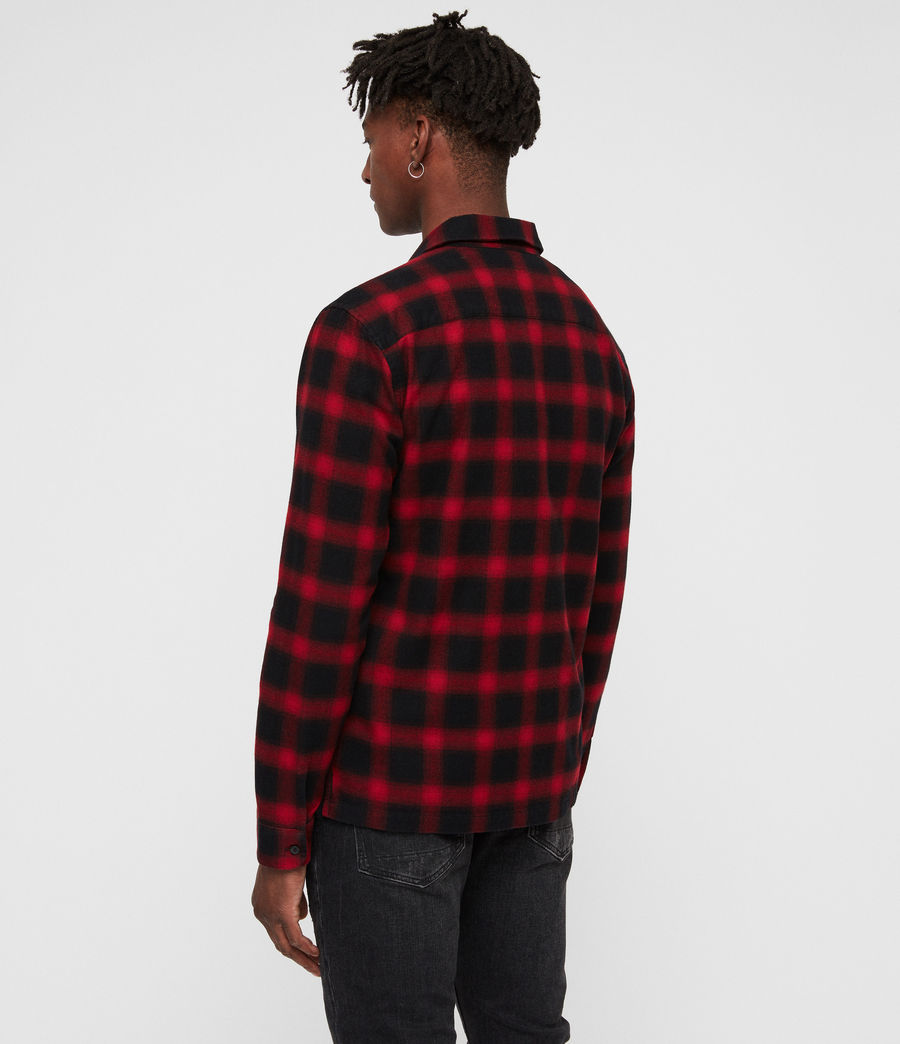Mens Clyde Shirt (red_black) - Image 5