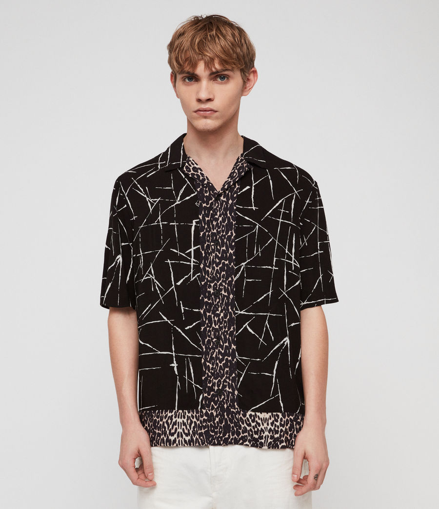 Mens Stix Shirt (jet_black) - Image 1