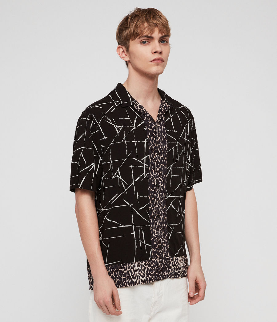 Mens Stix Shirt (jet_black) - Image 4