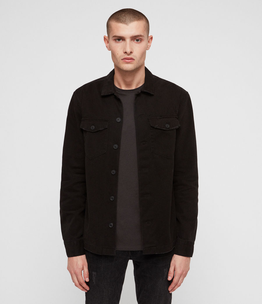 Mens Encamp Long Sleeve Shirt (Washed Black) - Image 1