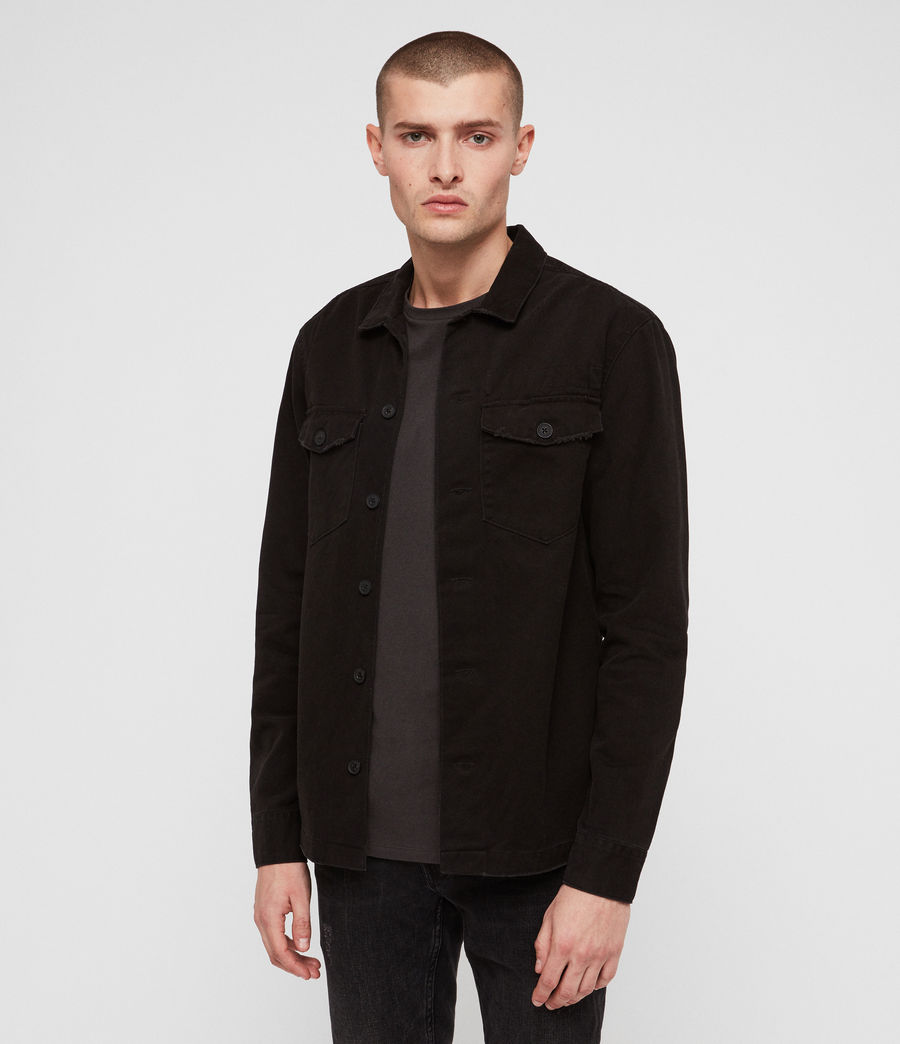 Mens Encamp Long Sleeve Shirt (Washed Black) - Image 4