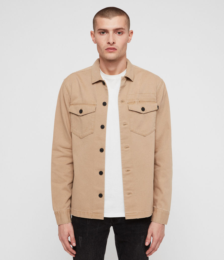 Hommes Encamp Long Sleeve Shirt (sand_brown) - Image 1