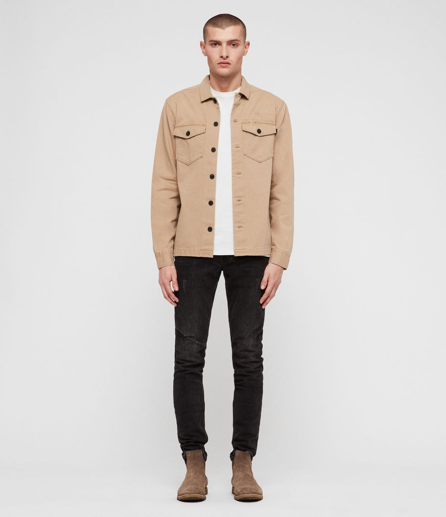Hommes Encamp Long Sleeve Shirt (sand_brown) - Image 3