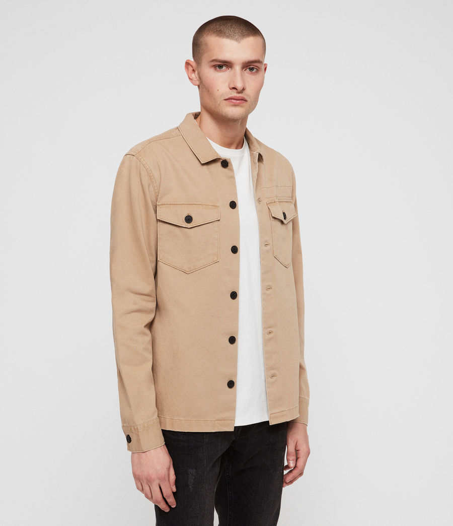 Hommes Encamp Long Sleeve Shirt (sand_brown) - Image 4