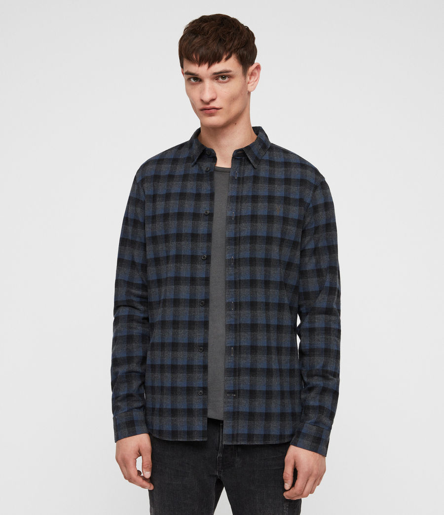 Men's Newburg Shirt (charcoal_blue) - Image 1
