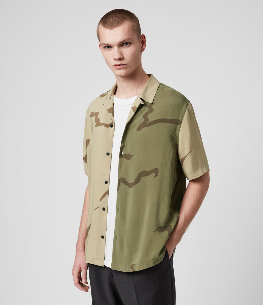 Mens Invasion Shirt (khaki_green) - Image 4