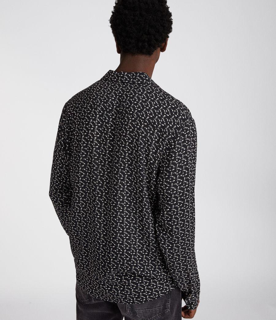 Hombres Camisa de manga larga Notes (jet_black) - Image 5