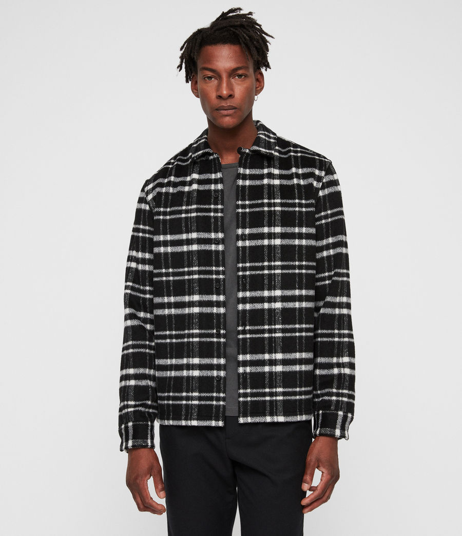 Mens Racine Shirt (black_ecru) - Image 1