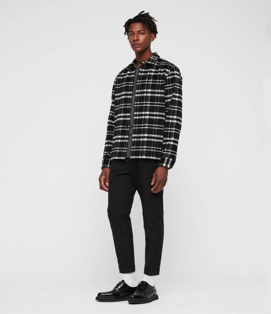 Men's Racine Shirt (black_ecru) - Image 3