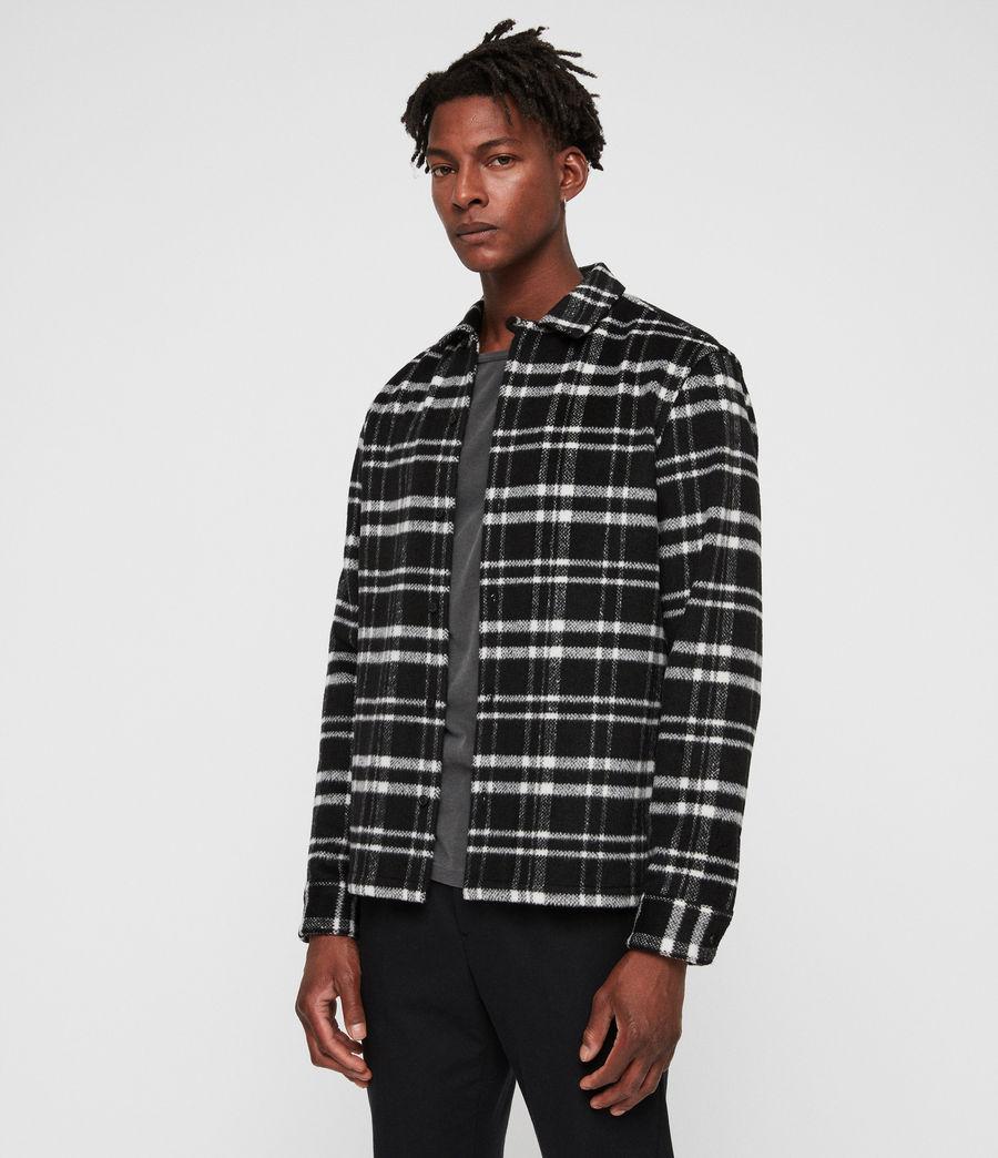 Mens Racine Shirt (black_ecru) - Image 4