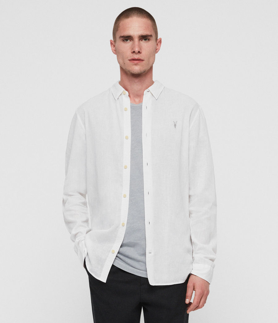 Men's Wayland Shirt (optic_white) - Image 1