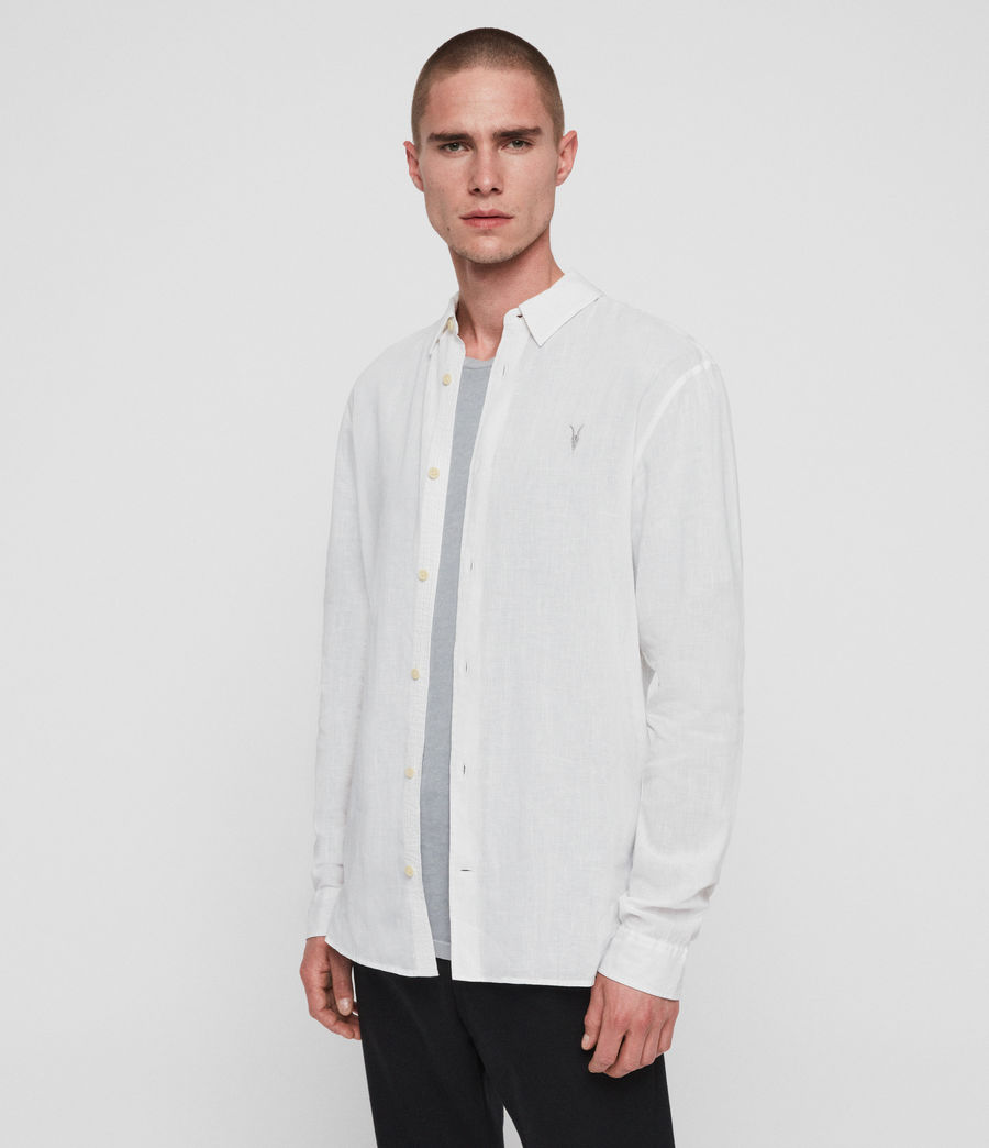 Men's Wayland Shirt (optic_white) - Image 2