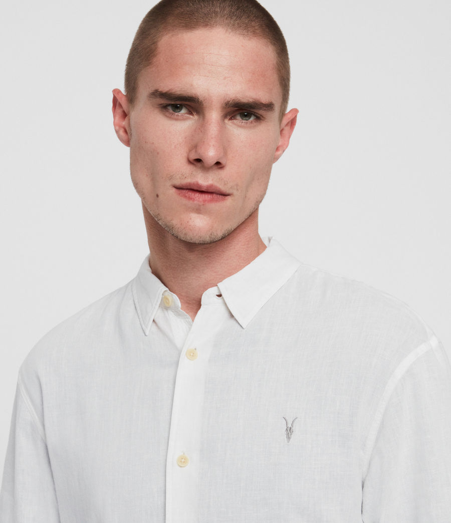 Men's Wayland Shirt (optic_white) - Image 3