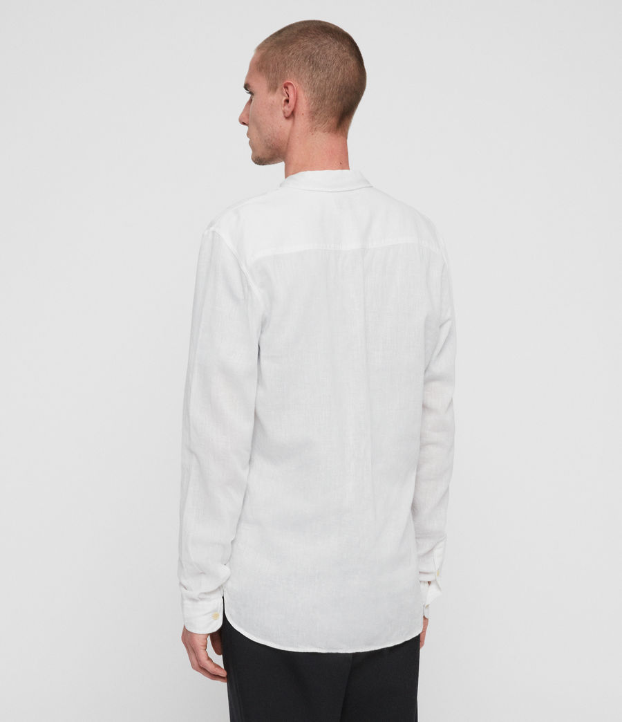 Men's Wayland Shirt (optic_white) - Image 4