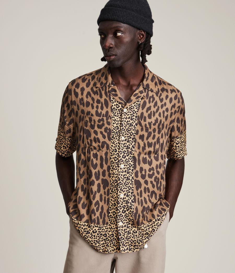 Herren Lepzard Shirt (mocha_brown) - Image 1