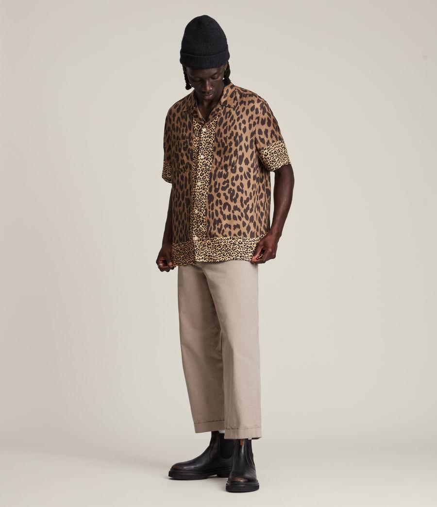 Herren Lepzard Shirt (mocha_brown) - Image 4