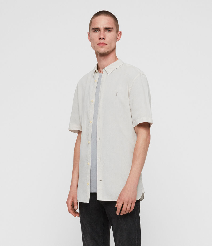 Mens Wayland Shirt (beige) - Image 2