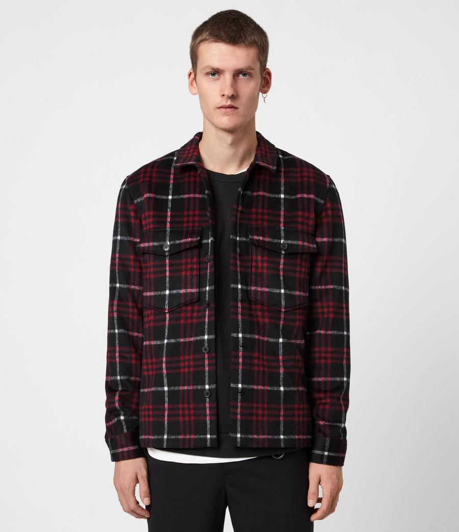 Men's Berthold Shirt (jet_black_red) - Image 1
