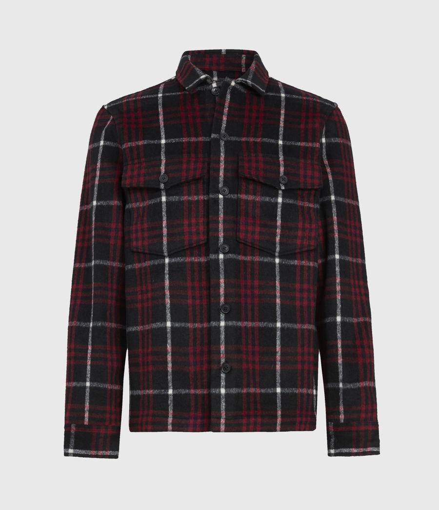 Men's Berthold Shirt (jet_black_red) - Image 2