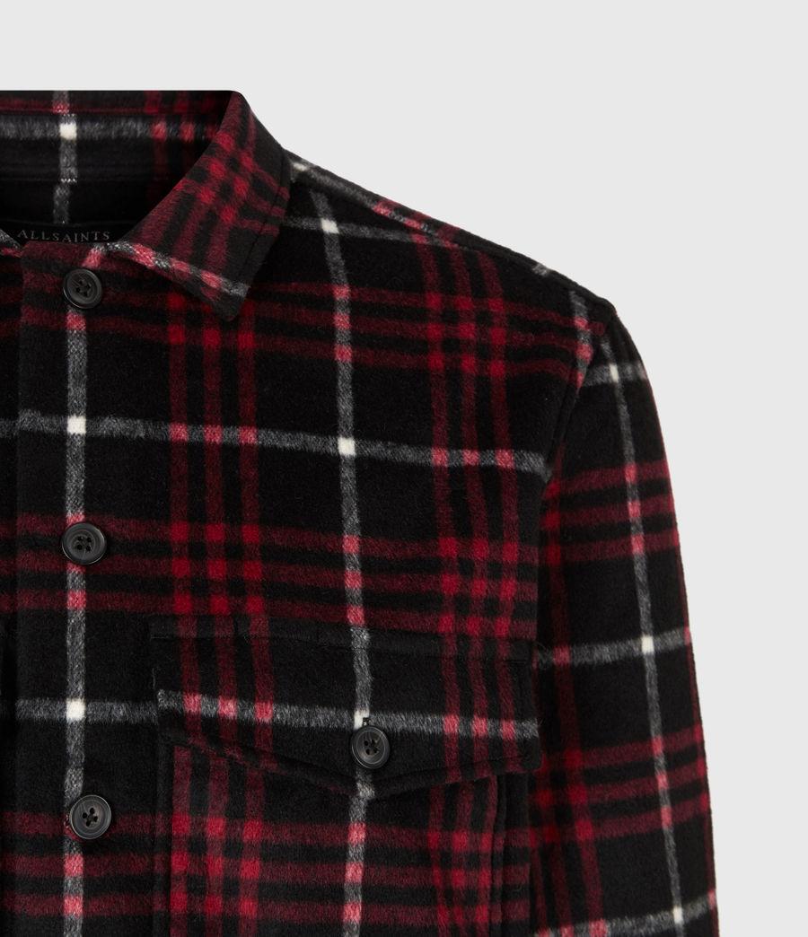 Men's Berthold Shirt (jet_black_red) - Image 4