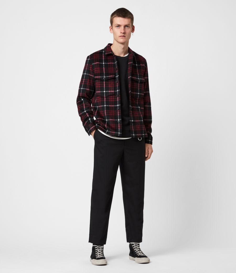 Men's Berthold Shirt (jet_black_red) - Image 5