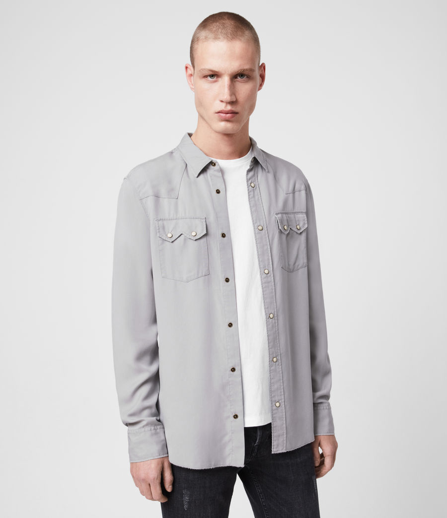 Mens Stockade Shirt (light_grey) - Image 1