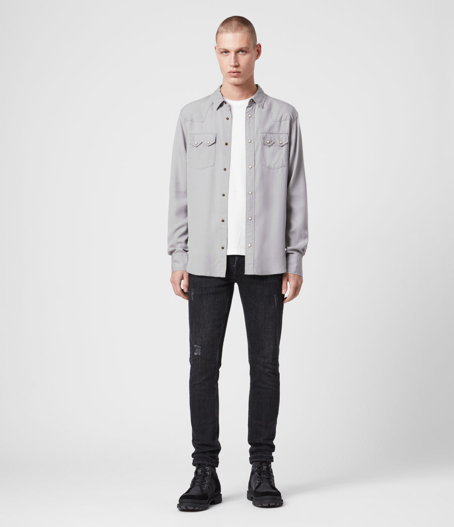 Mens Stockade Shirt (light_grey) - Image 3