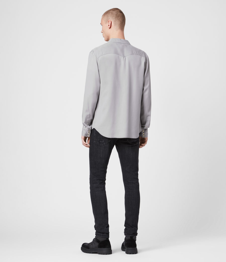 Mens Stockade Shirt (light_grey) - Image 4