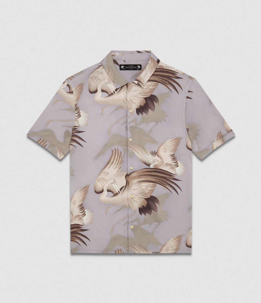 Men's Wader Hawaiian Shirt (chrome_grey) - Image 6