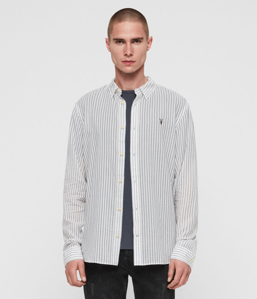 Mens Crawford Shirt (white__ink_navy) - Image 1