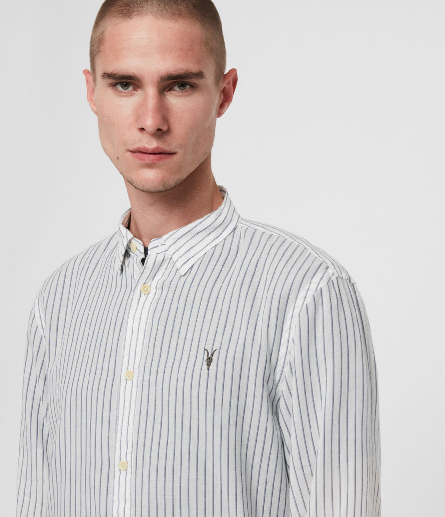Mens Crawford Shirt (white__ink_navy) - Image 3