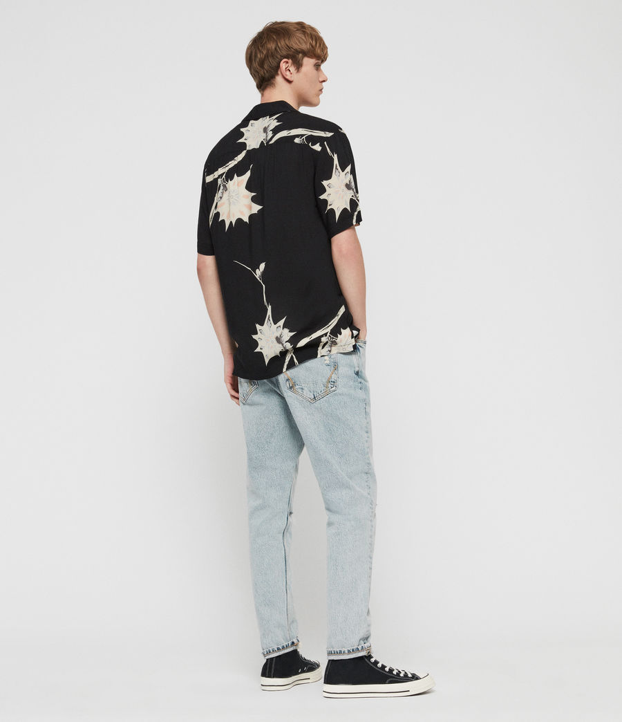 Men's Mokapu Hawaiian Shirt (jet_black) - Image 5